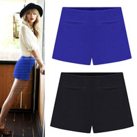 None Button Pleat Short Pant With Pocket