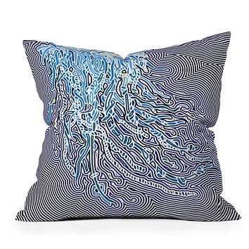 John Turner Jr Jellyfish W Throw Pillow
