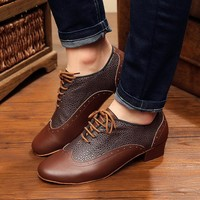 Sneakers Sports Dance Shoes Modern Genuine Leather Latin shoes For Men and Boy Brown Wear-resisting Non-slip Snakeskin grain 4