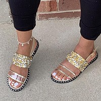 Summer new style sandals flat ladies beach shoes slippers