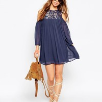 ASOS Lace Dress with Cold Shoulder at asos.com