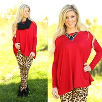 Pretty in Piko Top in Red