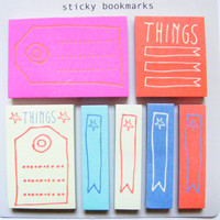Sticky Notes - 7 x 60 Pcs - Flagline Post its, Post it Notes, Clouds Stationary, Planner Stickers, Cute Bookmarks, Filofax, Blue Stickers