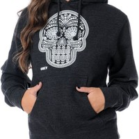 Obey Day Of The Dead Glow In The Dark Charcoal Pullover Hoodie at Zumiez : PDP