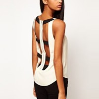 ASOS Vest With Contrast Harness Back at asos.com
