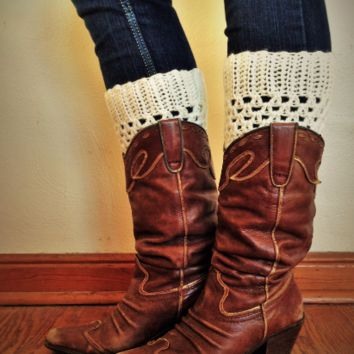 Knit Boot Cuffs by KnitPopShop