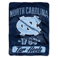 North Carolina Tar Heels NCAA Micro Raschel Blanket (Varsity Series) (48x60)