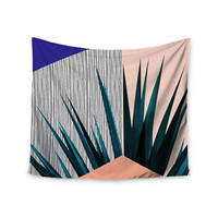 "Cafelab ""Summer Geometry "" Blue Coral Wall Tapestry"