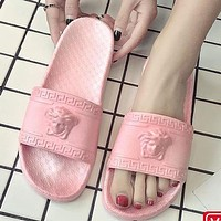 Versace Sandals And Slippers Men's And Women's Fashion Slippers Shoes