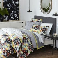 Op Art Duvet Cover + Shams - Slate