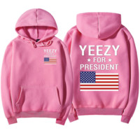 """""""YEEZY""""Fashion loose leisure hooded print sweater Pink"""