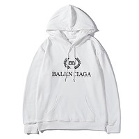 Balenciaga hot seller of casual hoodies in fashionable couple prints White