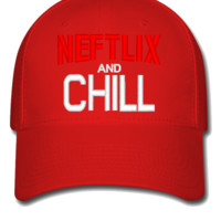 neftlix and chill - Flexfit Baseball Cap