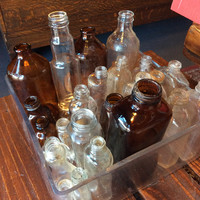 Random Antique Glass Bottles