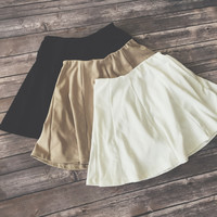 Skye Skater Skirt ( Black, Taupe, White)