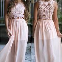 Hawaiian Love Blush Maxi Dress