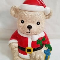 Santa Bear Cookie Jar (928)