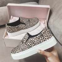 About Time Leopard Slip On Platform Shoes