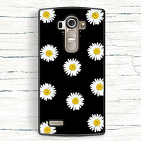 LG G3 G4 Case Daisies on black background