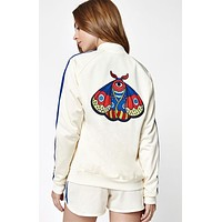adidas Originals Embellished Arts Bomber Jacket With Butterfly Embroidery