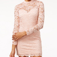 Material Girl Juniors' Lace Bodycon Dress, Only at Macy's - Juniors Dresses - Macy's