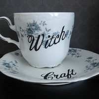 Teacup - Witchcraft - Hand Painted Tea Cup
