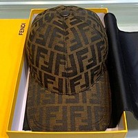 Fendi Fashion new more letter canvas couple hat cap