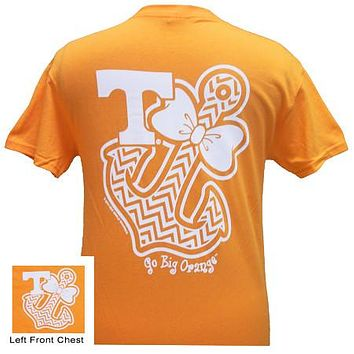 Tennessee Vols Chevron Anchor Bow Girlie Bright T Shirt