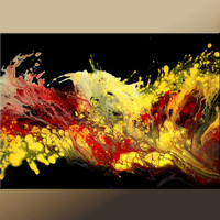 Abstract Modern Art Paintings Contemporary Original by wostudios