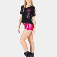 Free Shipping - Adult Lace Back Ballet Slipper Short Sleeve Tee by GIA MIA