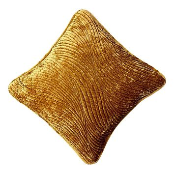 Tache Velvet Dreams Melted Gold Plush Waves Throw Pillow Cover (JHW-852Y)