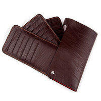 Fashion Luxury Men Women Faux Leather Business Card Slot Credit Card Holder Bag Multilayer Package Card Case