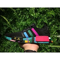Kaws x Adidas Consortium NMD R1 Multicolor Black S31513 Boost Sport Running Shoes Classic Casual Shoes Sneakers