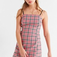 UO Checkered Mini Slip Dress | Urban Outfitters