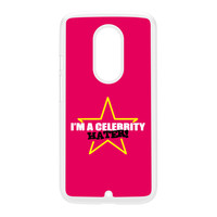 Celebrity Hater White Hard Plastic Case for Moto X2 by Chargrilled