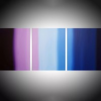 "ARTFINDER: triptych 3 panel wall art colorful images ""Purple Haze"" 3 panel canvas wall abstract canvas pop abstraction 48 x 20 "" other sizes available by Stuart Wright - ""Purple Haze""