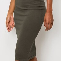 Dress For Success Pencil Skirt - Dark Olive