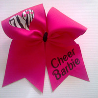 Cheer Barbie Cheer Bow on 3'' Shocking Pink by BritishBowtique
