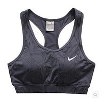 Trendsetter NIKE Casual Gym Sport Yoga Embroidery Print Vest Tank Top Cami