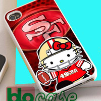 49ers Hello Kitty For Iphone 4/4s, iPhone 5/5s, iPhone 5C, iphone 6, and iPhone 6 Plus Case