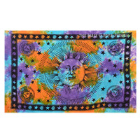 Tie Dye Sun and Moon Tapestry Wall Hanging on RoyalFurnish.com