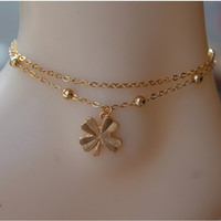 Jewelry New Arrival Simple Design Chain Leaf Anklet = 4831040708