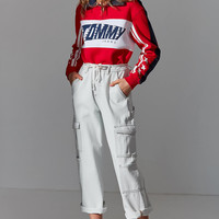 Tommy Jeans Half-Zip Polo Racing Sweatshirt   Urban Outfitters