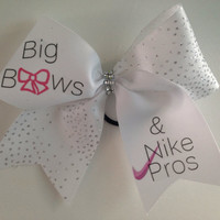 Big bows and nike pros Cheer bow