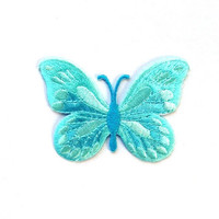 Blue Papillon Applique/Butterfly Embroidery