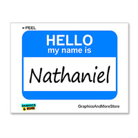 Nathaniel Hello My Name Is Sticker