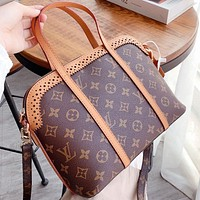 LV New fashion monogram print leather waist bust bag shoulder bag crossbody bag
