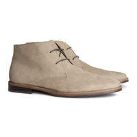 H&M - Leather Desert Boots - Taupe - Men