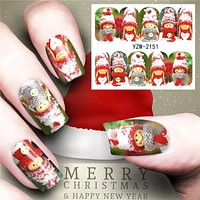 Christmas Water Nail Stickers Transfer Decals Sliders Snowman