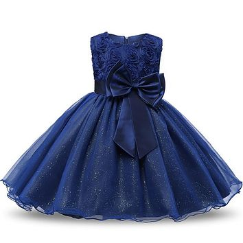 Sequins vintage Baby Girl Dress Baptism Dresses for Girls 1st year birthday party wedding Christening baby infant clothing bebes